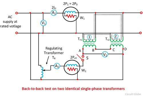 Back-to-Back-Test (Sumpner-Test) an Transformer